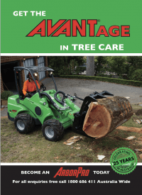 Avant loader for Tree Care